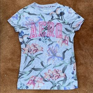 Grey Floral Aéropostale Graphic Tee
